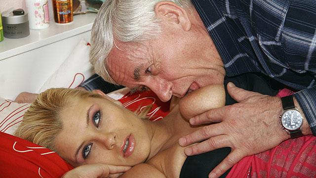 Old Men Getting Sucked Off By Big Tits Teen Slut